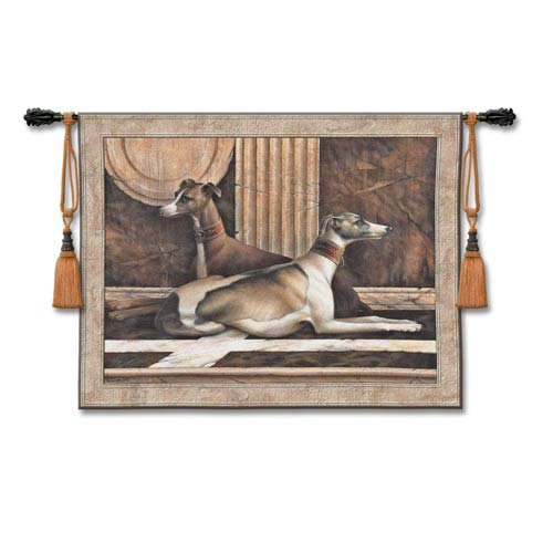 Greyhound Fresco Woven Wall Tapestry