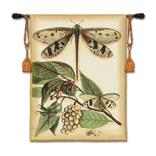 Lt Whimsical Dragonfly I Woven Wall Tapestry