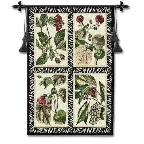 Floral Quad Woven Wall Tapestry