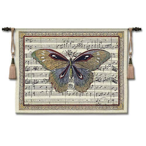 Butterfly Dance I Small Woven Wall Tapestry