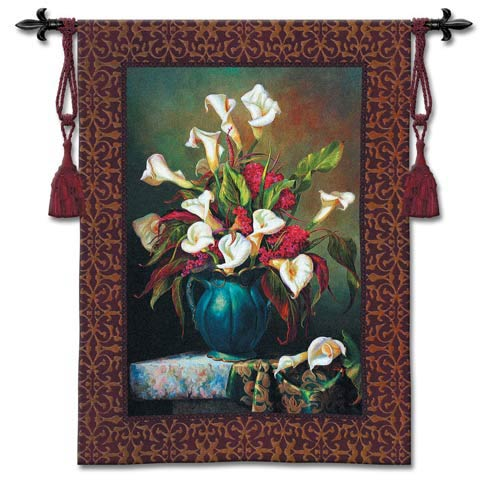 Callas With Cockscomb Woven Wall Tapestry