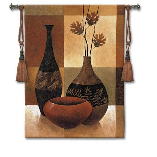 Natures Patchwork II Woven Wall Tapestry