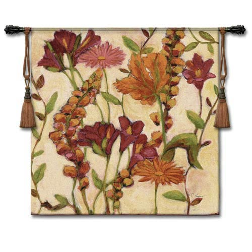 Garden Blooms Large Woven Wall Tapestry
