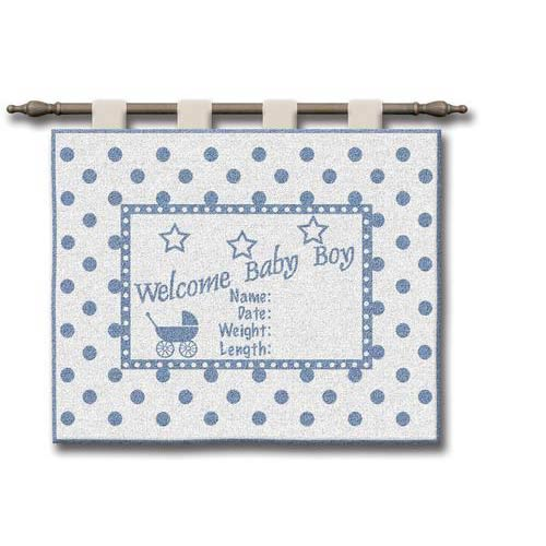 Pure Country Weavers Welcome Baby Boy Wall Tapestry