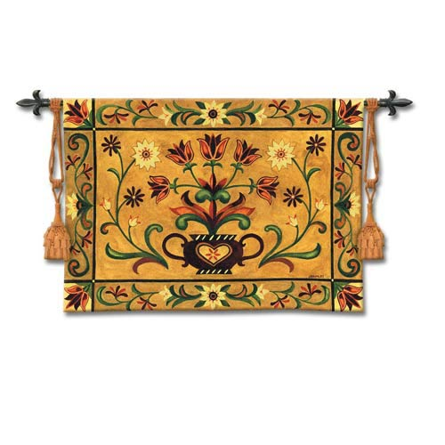 Heritage Floral Woven Wall Tapestry
