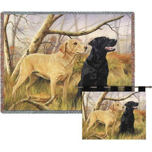 Pure Country Weavers Yellow & Black Lab Throw