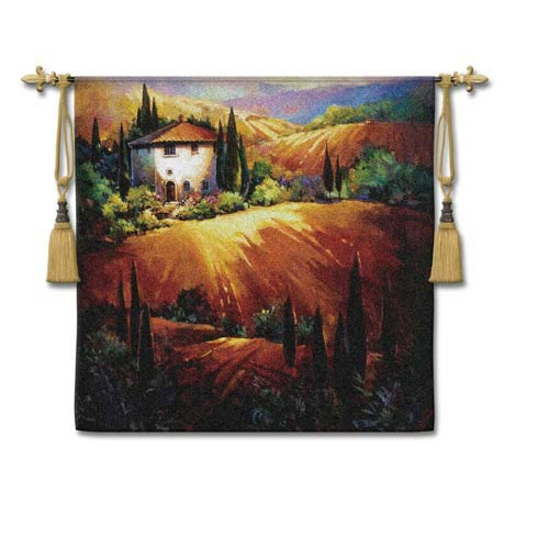 Golden Tuscany Woven Wall Tapestry