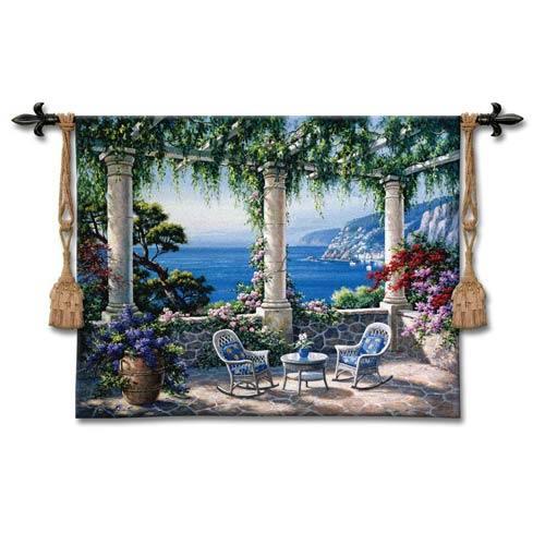 Mediterranean Terrace Woven Wall Tapestry