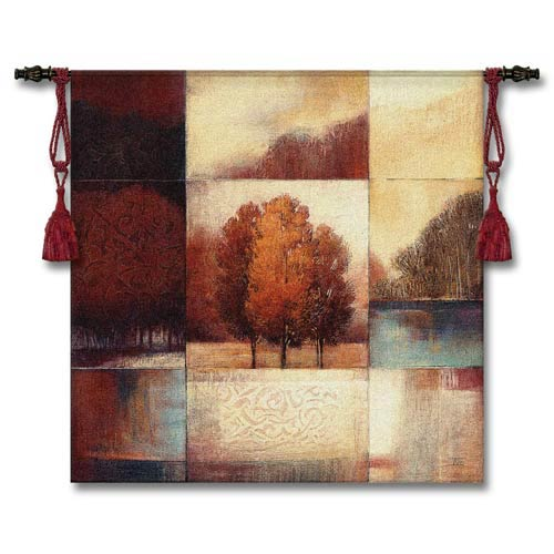 Persimmon Forest Woven Wall Tapestry
