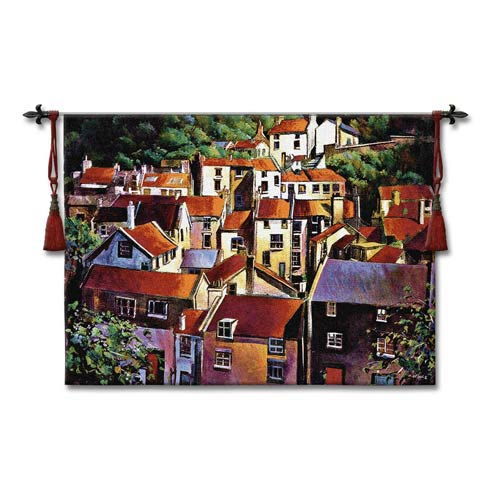 Rooftops II Woven Wall Tapestry