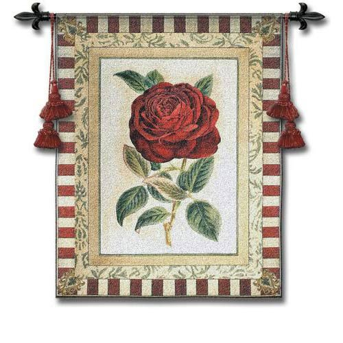 Red Rose II Tapestry Wall Hanging