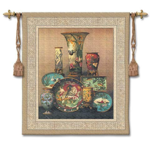 Elkingtons Cloisonne Small Woven Wall Tapestry