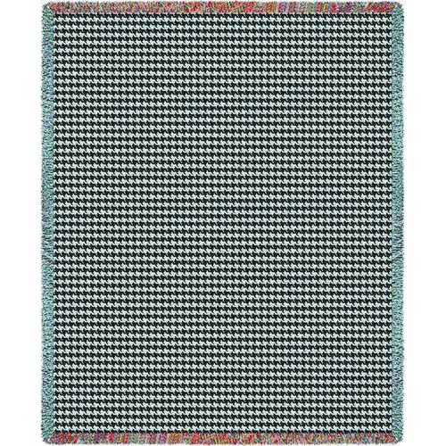 Houndstooth Grey Throw