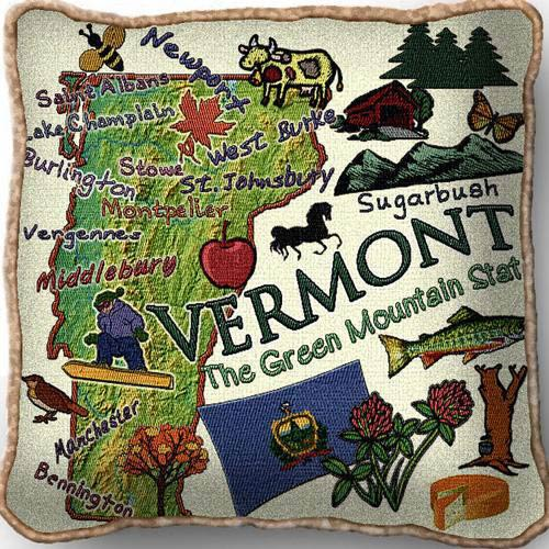 Vermont State Pillow