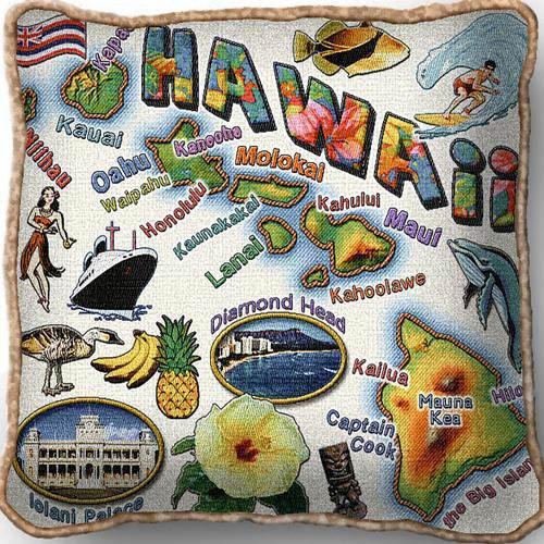 Hawaii State Pillow