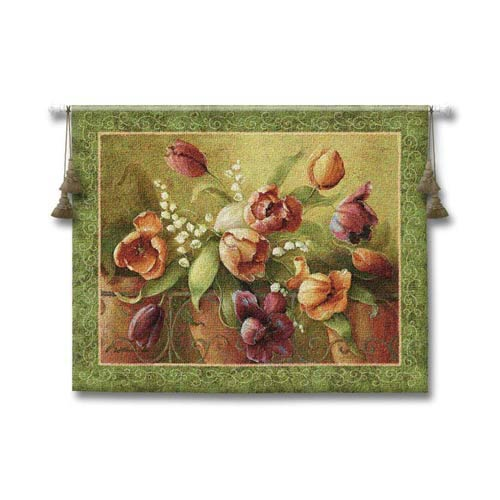 Terrace Tulips Woven Wall Tapestry