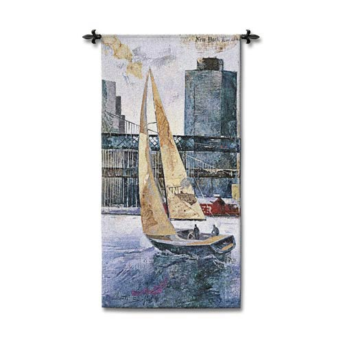 Sailing In The Afternoon Woven Wall Tapestry
