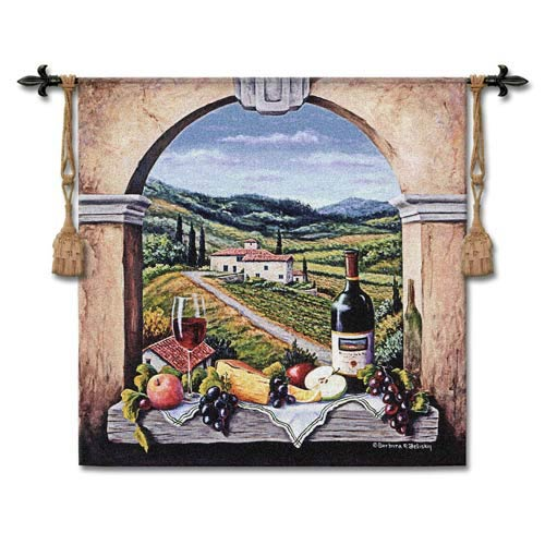 Vineyard Road Woven Wall Tapestry