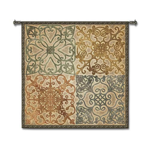 Wrought Iron Elegance Woven Wall Tapestry