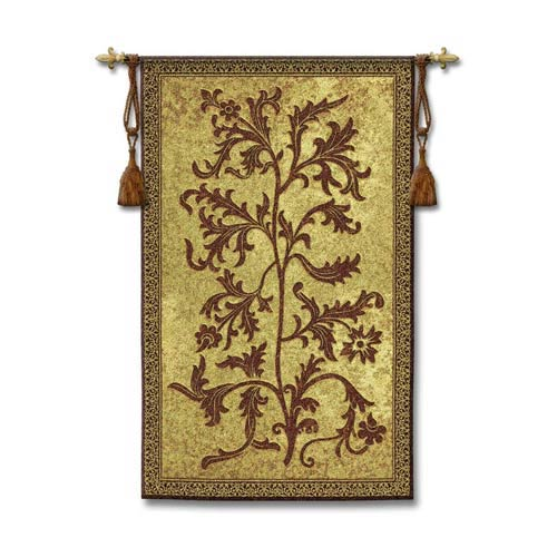 Pure Country Weavers Acanthus Vine Woven Wall Tapestry