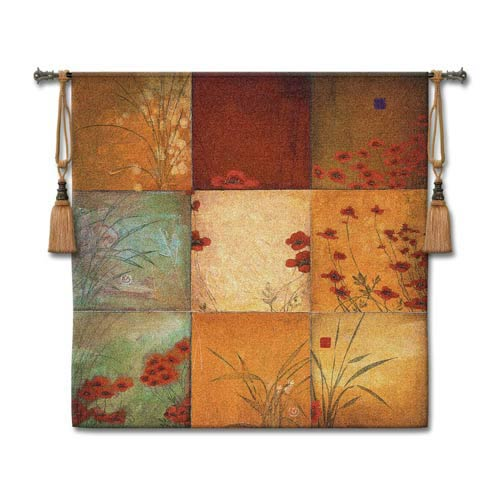 Poppy Nine Patch Woven Wall Tapestry