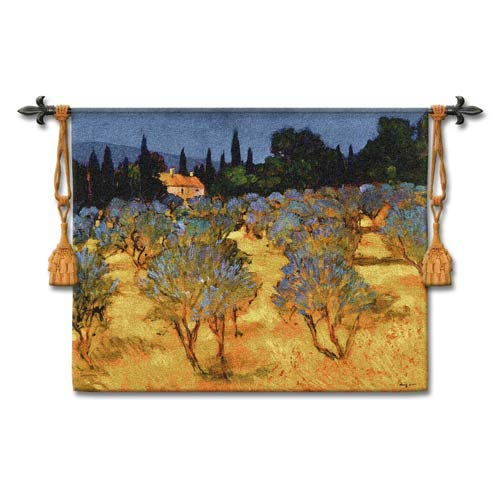 Les Olives En Printemps Woven Wall Tapestry