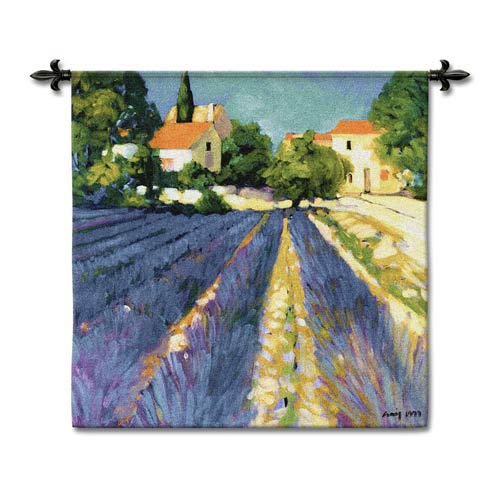Lavender Fields Woven Wall Tapestry