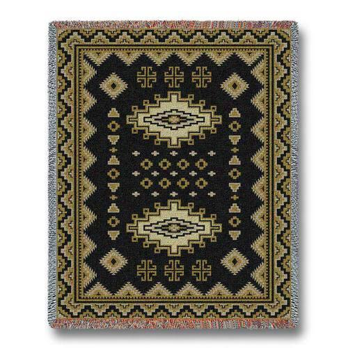 Pure Country Weavers Southwest Sampler Black and Gold Throw