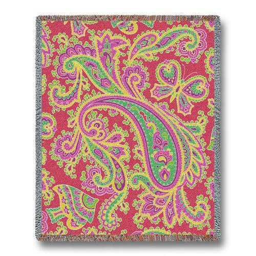 Paisley Pink Throw