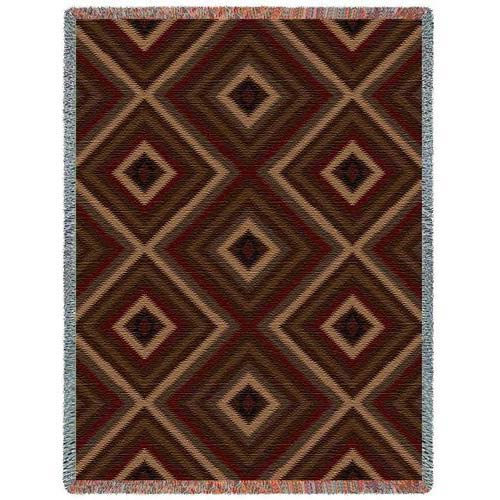 Pure Country Weavers Southwest Sampler Chevron Russet Throw