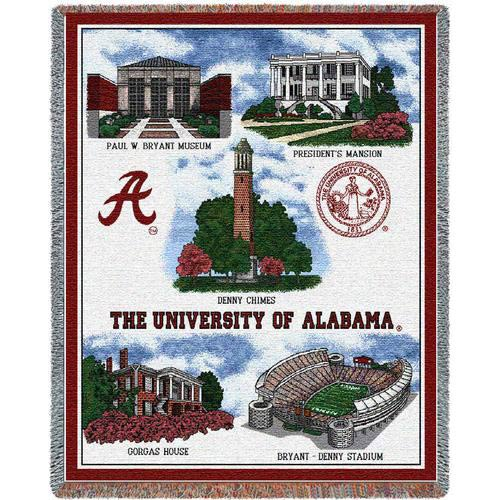 Pure Country Weavers Univ of Alabama Collage Throw