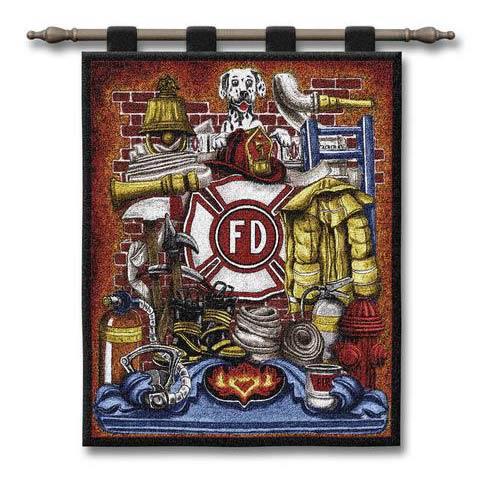 Fireman Pride Wall Tapestry