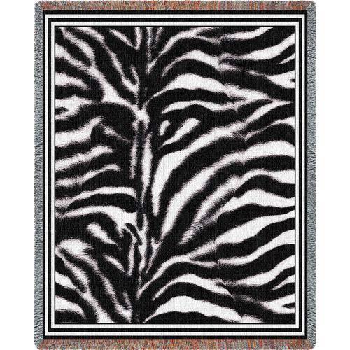 Zebra Skin Throw