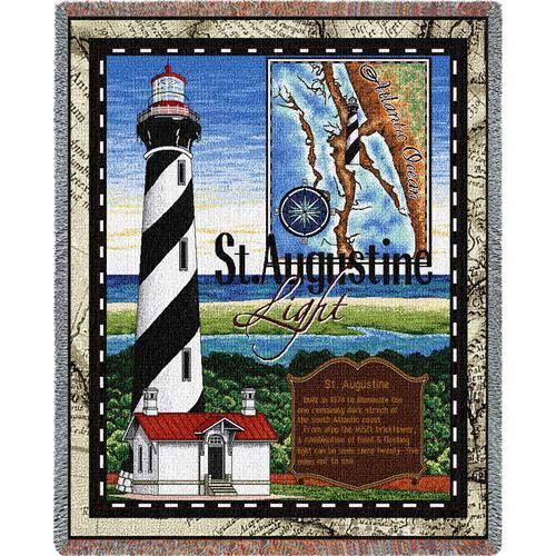 St Augustine Lighthouse Throw