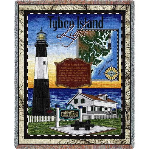 Tybee Island Lighthouse Throw