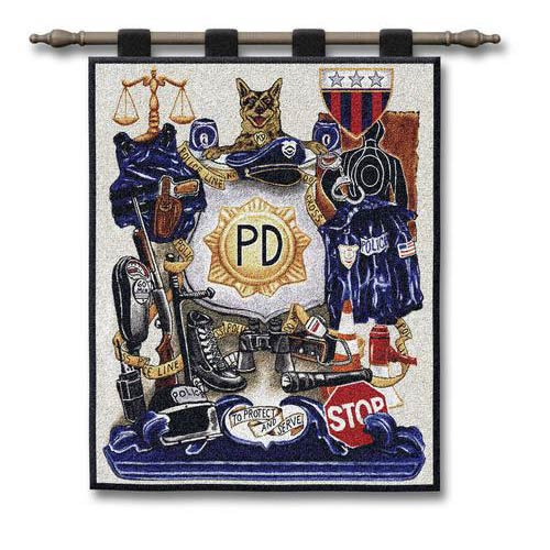 Policeman Pride Wall Tapestry