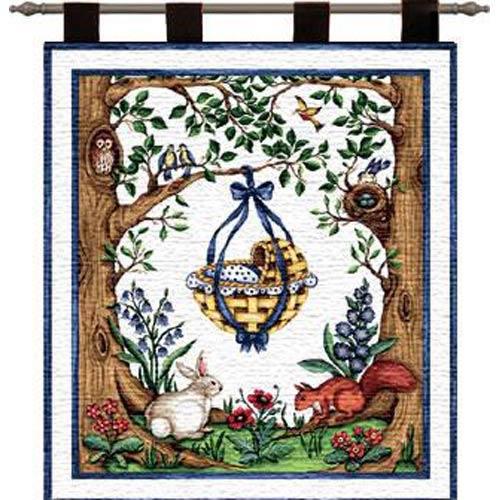 Rock Bye Blue Wall Tapestry
