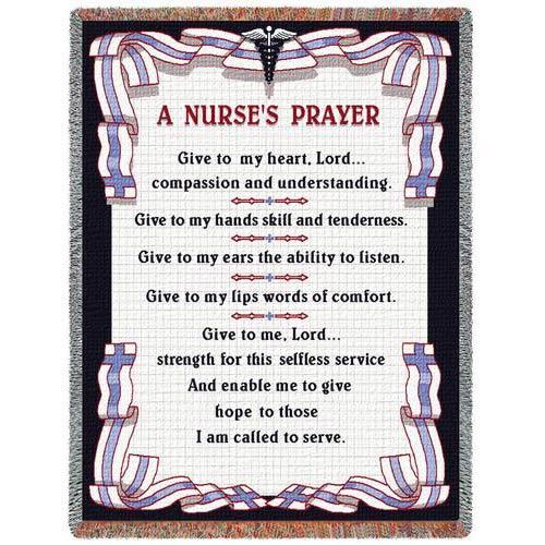 A Nurses Prayer Throw