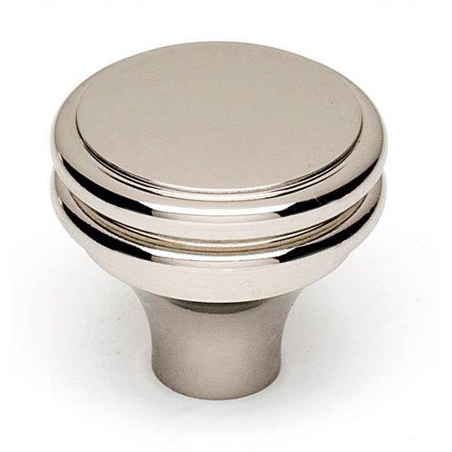 Alno, Inc. Polished Nickel Brass 1 1/4-Inch Knob