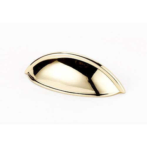 Polished Brass 3 1/2-Inch Cup Pull
