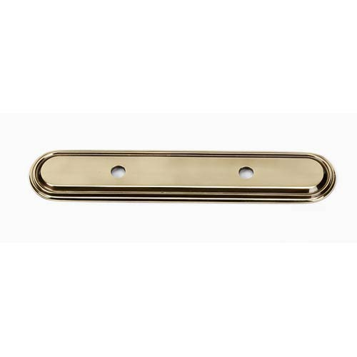 Venetian Polished Antique Backplate for 3 1/2-Inch Pull