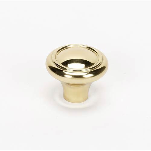 Classic Traditional Polished Brass 1 1/4-Inch Knob