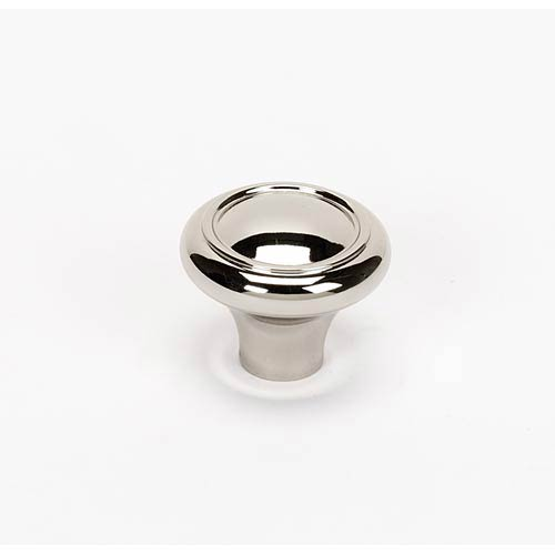 Alno, Inc. Classic Traditional Polished Nickel 1 1/4-Inch Knob