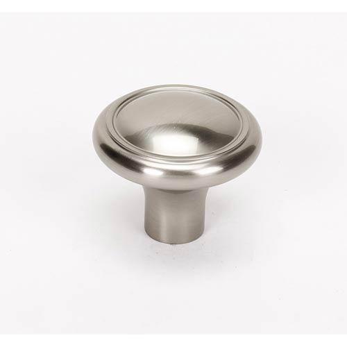 Classic Traditional Satin Nickel 1 1/2-Inch Knob