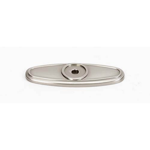 Classic Traditional Satin Nickel Backplate for Oval Knob