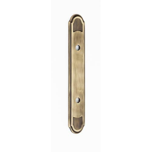 Classic Traditional Antique English Matte Backplate for 3 1/2-Inch Pull