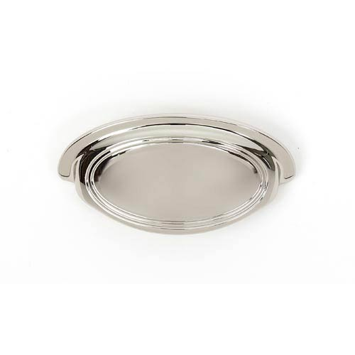 Classic Traditional Polished Nickel 3-Inch Cup Pull