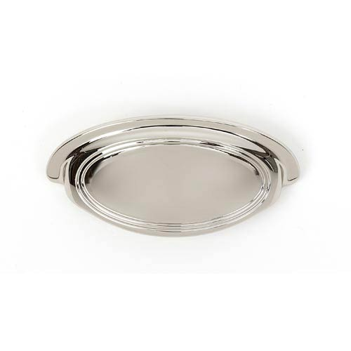 Classic Traditional Polished Nickel 3 1/2-Inch Cup Pull