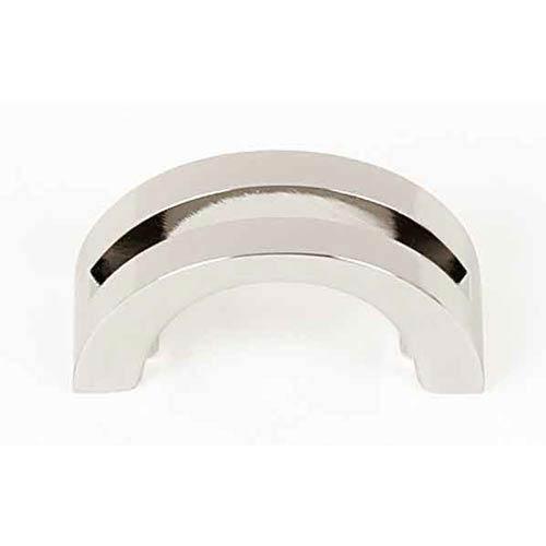 Split Top Polished Nickel 1 1/2-Inch Pull