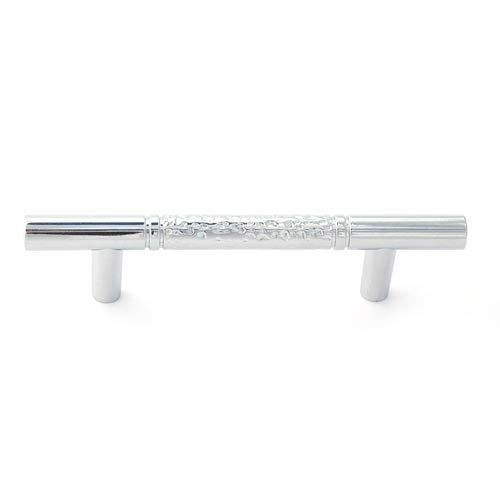 Eclectic Polished Chrome 3-Inch Pitted Bar Pull
